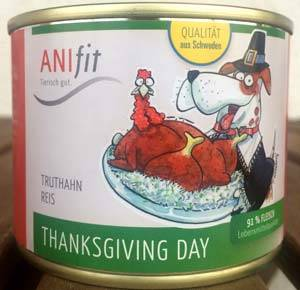 Anifit Hundefuttersorte Thanksgiving Day