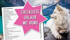Checkliste Urlaub Hund