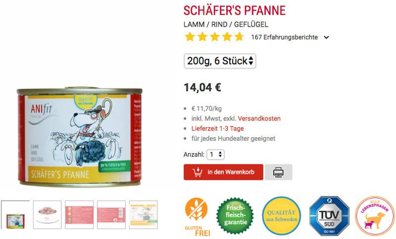 Anifit Schäfers Pfanne