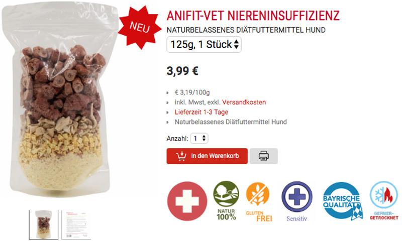 nahrungsmittel bei niereninsuffizienz bei hunden